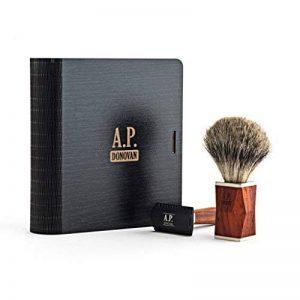 A.P. Donovan - Rasage Set - rasage humide classique, Barbier - blaireau blaireau, rasoir en bois - Ventralis - Acajou Rasage & Slicer Set de la marque A.P. Donovan image 0 produit