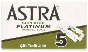 Astra Lames de rasoir double face en platine - lot de 100 - Fabriquees par Gillette P & G de la marque Astra image 0 produit