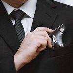 BELINIA PRESTIGE -NEW DESIGN - PEIGNE POUR BARBE - Pochoir barbe/Peigne contour barbe symétrique, traceur, peigne pochoir et guide barbe ET SON ETUI CUIR UNIQUE et DESIGN - 3 Rasoirs hygiénique jetable OFFERT - Un cadeau parfait pour les Barbus. de la mar image 1 produit