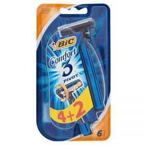 Bic Comfort 3 Pivot Paquet de 6 rasoirs jetables à 3 lames de la marque BIC image 0 produit