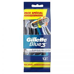 Gillette Blue3 Rasoirs Jetables Pour Homme – Lot De 12 de la marque image 0 produit