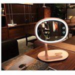 Miroir De Maquillage Éclairé Par Rotation De Pivot De 360 ° Miroir Cosmétique Rechargeable Avec Miroir De Vanité Lumière Avec Contrôle Tactile Luminosité Réglable Lampe De Lecture De Bureau Créative Cosmétique Actionnée Par Charge,Yellow de la marque FMTM image 5 produit
