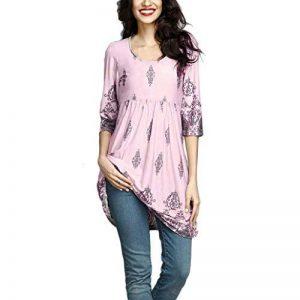 MORCHAN❤Femmes Dames Automne Hiver Trois-Quarts Manches Impression Décontractée T-Shirt T-Shirt Lâche Top Blouse Robe️ de la marque MORCHAN image 0 produit