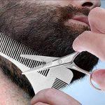 Pchero Barbe kit d'outils de coupe avec barbe Shaping Peigne, ciseaux et rasoir droit - Les lames n'est pas incluse de la marque PChero image 3 produit