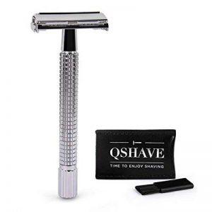 QSHAVE Rasoir de Sécurité/Sûreté Papillon Ouvert avec Manche Long(11.5 cm) de la marque QSHAVE image 0 produit