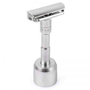 Qshave rasoir Solo support/Base brossé en alliage d'aluminium support réglable pour rasoir de sécurité rasoir (non inclus) de la marque QSHAVE image 0 produit