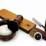 Rasoir des anciens Art Hommes droite, la brosse de noire de Blaireau de Rasoir, Courroie en cuir, Bol en Bois, Savon et de en cuir à rasoir de pâte Rasage. de la marque JAG SHAVING GERMANY image 2 produit