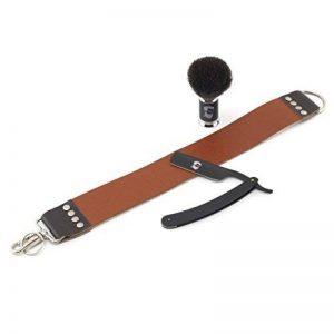 Rusty Bob - Rasoir traditionnel de barbier - cuir à rasoir - raser et savon à barbe - razor - Set 3 de la marque Rusty Bob image 0 produit