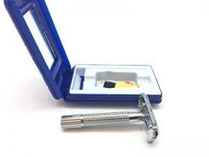 vraiment simple Papillon rasoir de sécurité rasoir kit–Livré avec gratuit Blade, miroir et de tout ce dont vous avez besoin pour une grande et rasage en toute sécurité. de la marque Best-Value-Shop image 0 produit