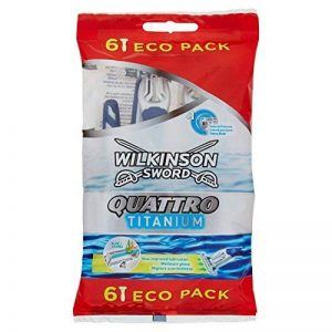 Wilkinson - Quattro Titanium - Rasoirs jetables masculins - Pack de 6 de la marque Wilkinson image 0 produit
