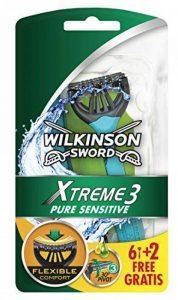 Wilkinson - Xtreme 3 Pure Sensitive - Rasoirs jetables masculins - Pack de 8 de la marque Wilkinson image 0 produit